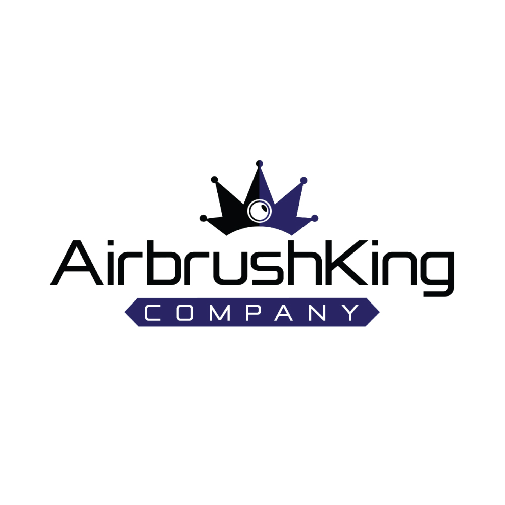 AirbrushKing Company Logo Royal Blue